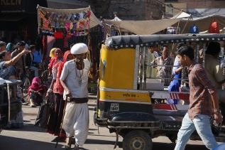 The streets of India