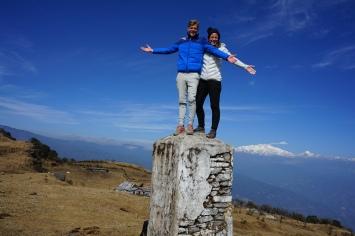 Op de grens van India en Nepal