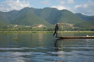 Inle Lake beenroeier