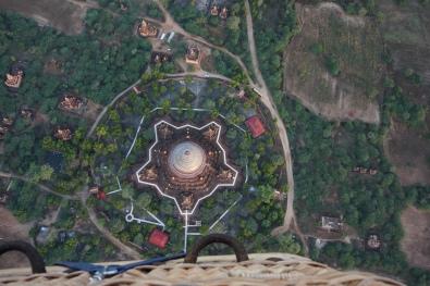Basket view over Bagan
