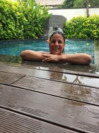 Twistin' by our pool
