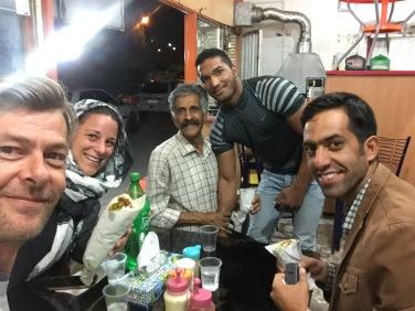 Making friends in Kerman